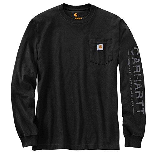 Shirt Long Core Sleeve (Carhartt Men's 103303 Workwear Core Graphic Long Sleeve T-Shirt - Large - Black)