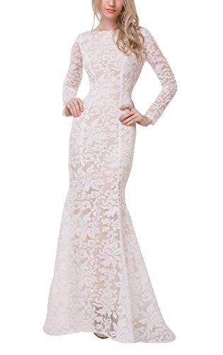 Beautifly New Elegant Women/Lady Hollow Mermaid Long Sleeve Formal Dress US 12