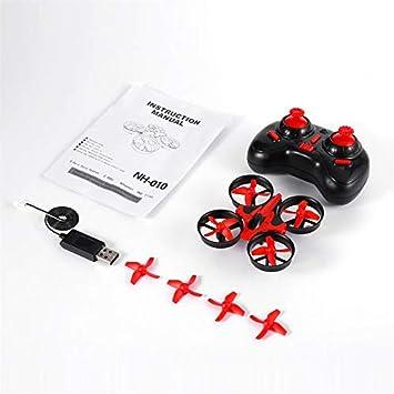 HoganeyVan Rojo Mini UFO Quadcopter Drone Luces LED Drones Modo ...