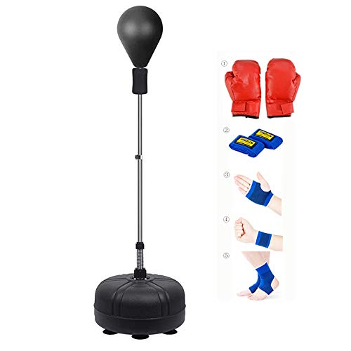 SFEEXUN Punching Bag with Stand for Kids Adults, Freestanding Punching Ball with Suction Cup Height Adjustable Boxing…