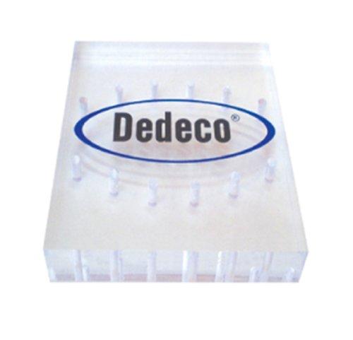 Dedeco 9651 12-Hole HP Lucite Bur Block, 3/32