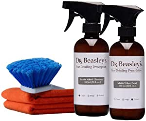 Dr. Beasley's Matte Wheel Cleaning Kit - Protects Matte Wheels from Corrosion, Retains Matte Sheen, Compatible with Powder Coated and Painted Wheels