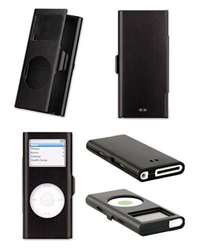 Lux Apple Ipod Nano 2nd Gen Aluminium Case with hole for Lanyard - Black