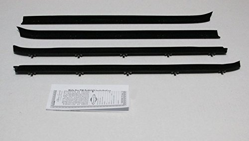 Repops Automotive Reproductions Window Sweeps Felt Kit Weatherstrip For 1978-1987 Chevy/GMC Truck Pickup