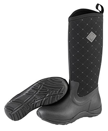 Quilted Print Arctic Bottes Noir Black Castlerock Bottines Boots Muck Bleu de Pluie Adventure Et Print Femme xIUpqqtwf