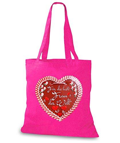 StyloBags Jutebeutel / Tasche Beste Frau Lebkuchenherz Pink Pb7DLfv