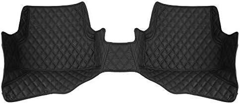 FH Group Custom-fit Heavy Duty Faux Leather Rear Car Floor Mat fits 2008–2016 Audi A4 Sedan, Black Color, Diamond Pattern