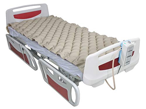 ObboMed MA-6100 Air Alternating Pad/Overlay with Pump System, Variable Pressure with End Flaps, Fits Standard Hospital Bed, Size 78 x 34 inches / 200 x 90 cm