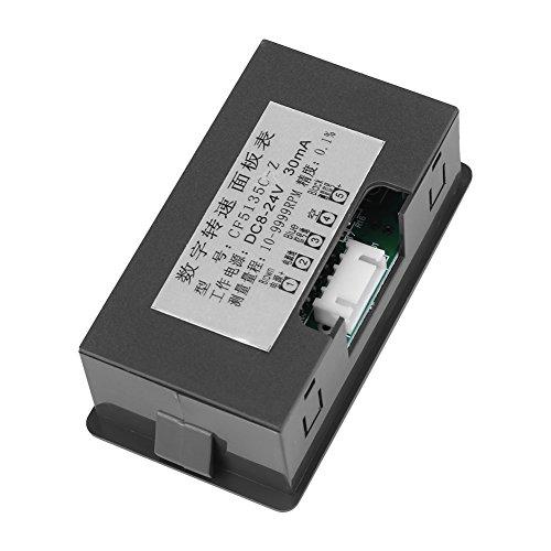contagiri motore a LED rosso a 4 cifre Tester di velocit/à RPM sensore interruttore di prossimit/à Hall NPN per motosega marina Contagiri motore Tachometer