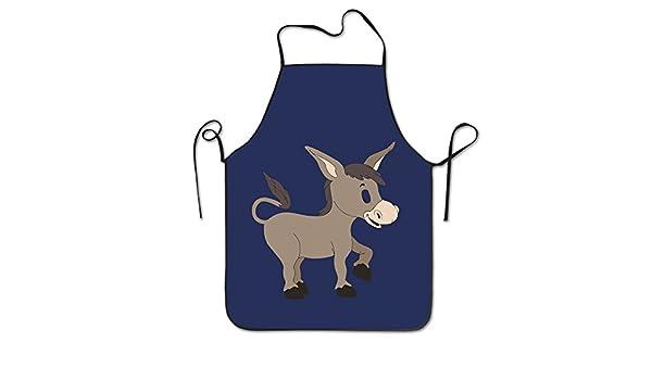 Unisex cocina delantales de dibujos animados burro - Chef delantal delantal barbacoa delantales: Amazon.es: Hogar