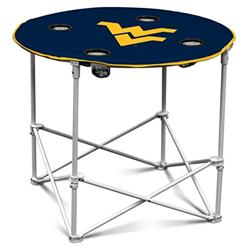 NCAA West Virginia Mountaineers Round Tailgating Table (Stores In West Virginia)