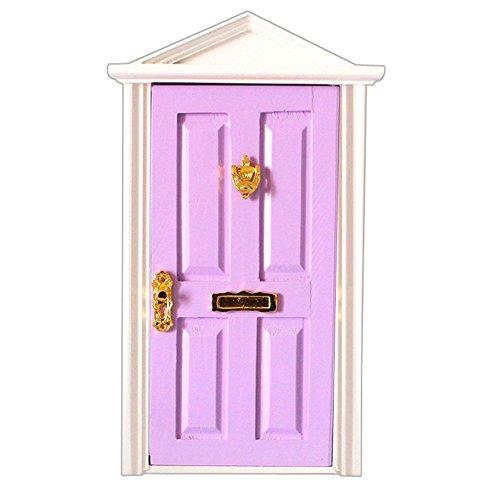 dreamflyingtech 1:12 Purple Miniature Wooden Fairy Dollhouse Dolls with Hardware Décor Kid by dreamflyingtech (Image #3)