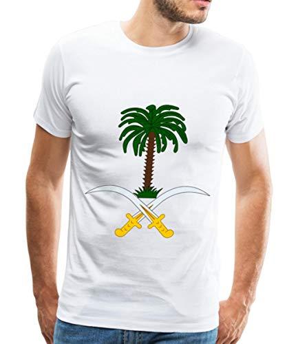 Spreadshirt Saudi Arabia Crest Men's Premium T-Shirt, L, white ()