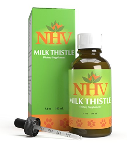 NHV Milk Thistle for Dogs and Cats - Essential Detoxification Support for Canines with Liver Dysfunction | Natural Vet Formulated Supplement for Pets