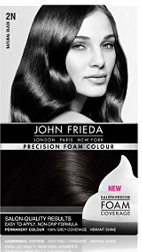 John Frieda Precision Foam Colour, 2N Natural Black - 1 Ea ( Pack of 3 )