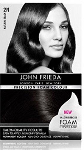 Price comparison product image John Frieda Precision Foam Colour Luminous Natural Black 2N 1 Each (Pack of 3)