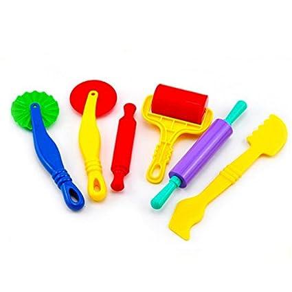 6PCS//set Polymer Clay Intelligent Plasticine Playdough Mould Tools Mold Kids