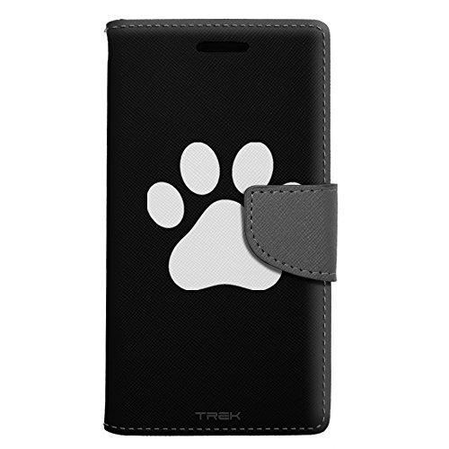 Prints Wallet Paw (Apple iPhone SE Wallet Case - Paw Print on Black Case)
