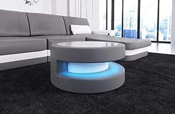 Sofa Dreams Moderner Couchtisch Modena In Leder Und Einer Led