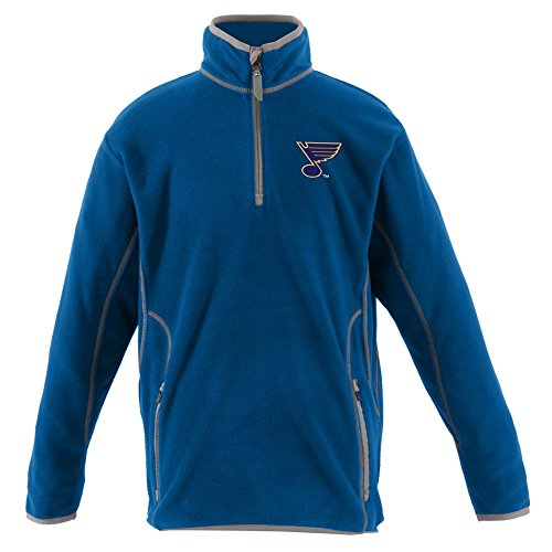 (ANTIGUA YOUTH ST. LOUIS BLUES ICE LONG SLEEVE PULLOVER ROYAL BLUE EXTRA LARGE)