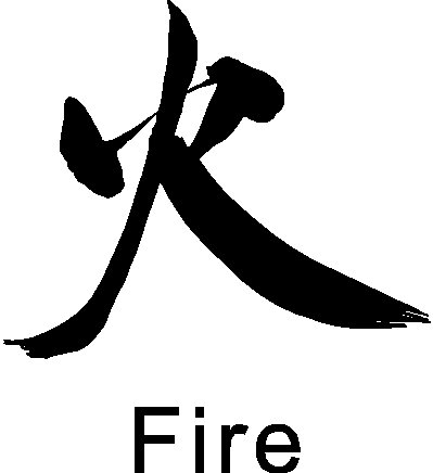 Amazon Chinese Symbol Fire Wall Decal Removable Wall Sticker