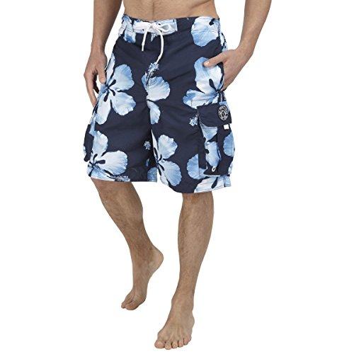 TOG 24 - Tonga Herren Badehose Dark Midnight Flower - - M - Blau