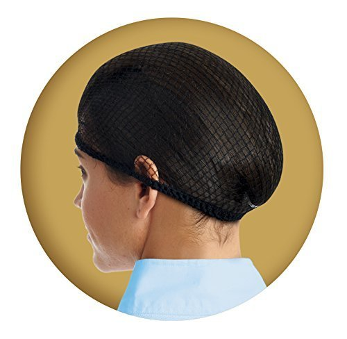 Ovation Deluxe Hair Net Pack of 2, Black, One Size ()