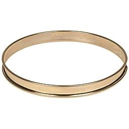 Matfer Bourgeat 371615 Plain Stainless Steel Tart Ring, 9.5\
