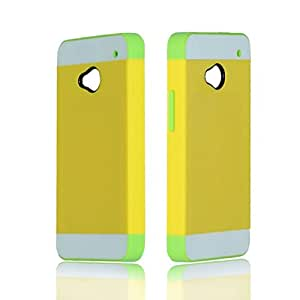 Tonsee(TM) 1PC Luxury Hybrid Impact Hard Skin Case Cover for HTC ONE M7 (Yellow)