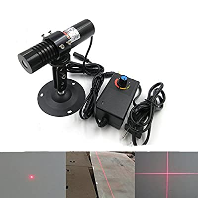 650nm 200mw Waterproof Red Laser Level Generator Module + Power Adapter + Holder
