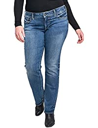 Women's Plus Size Suki Curvy Fit Mid Rise Straight Leg Jeans