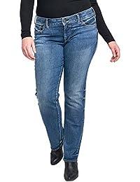0e84b09c Women's Plus Size Suki Curvy Fit Mid Rise Straight Leg Jeans