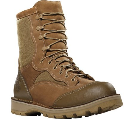 15670X Danner Men's USMC Rat Hot 8IN Uniform Boots - Brown - 9.5 - R