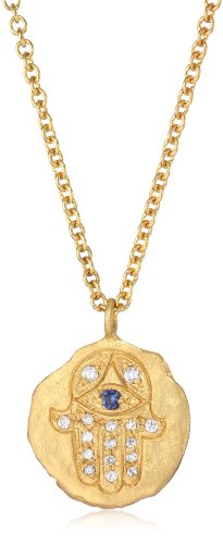 "Sara Weinstock ""Gold Nugget"" Gold Nugget with Hamsa Necklace"