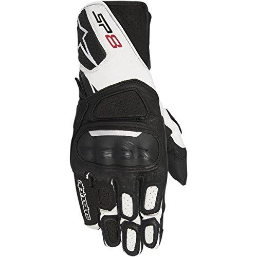 Alpinestars SP-8 V2 Men's Street Motorcycle Gloves - Black/White / Large