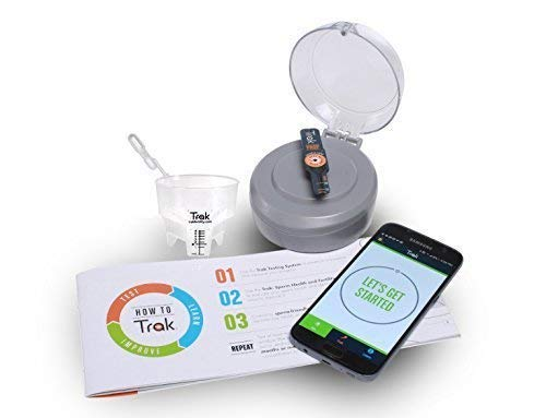 Trak at-Home Male Fertility Testing System | 4 Tests | Indicates Sperm Count as Low, Moderate, or Optimal | Includes Semen Volume Cup | FSA/HSA Eligible | Easy to Use ()