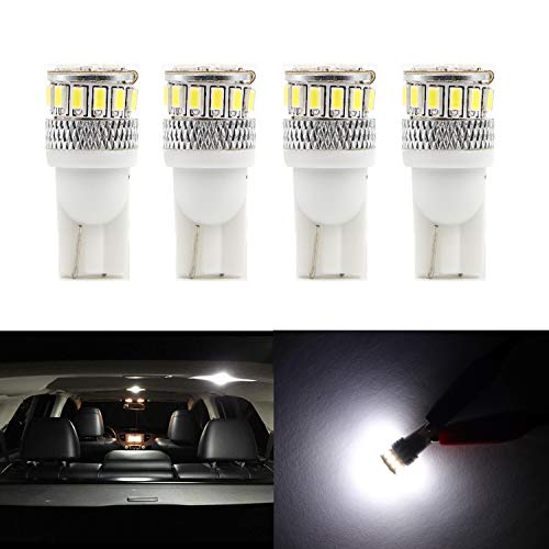 850 Volvo Lamp - Dantoo 4pcs Super Bright T10 LED Bulbs 194 168 2825 175 192 W5W Wedge Dome Lights 4014 Chipset 18 SMD 6000K Xenon White Light Lamp for for Car Interior Map License Plate Trunk Parking Light
