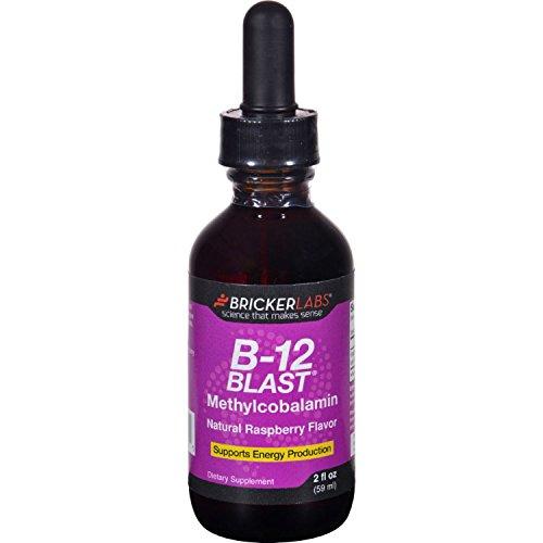 (Bricker Labs B-12 Blast - Methylcobalamin - Natural Raspberry - 2 oz )
