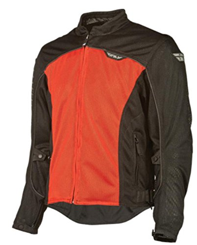 Fly Racing Flux Air Mesh Jacket, Distinct Name: Red, Gender: Mens/Unisex, Size: Lg, Apparel Material: Textile, Primary Color: Black #5220 477-4041~3