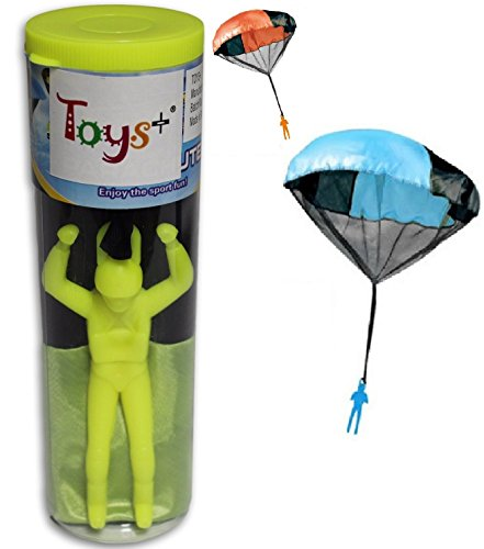 Toys+ Tangle Free Parachute Man Skydiver 1 Piece Great Stocking Suffers (Pick Your Color!) (Yellow)