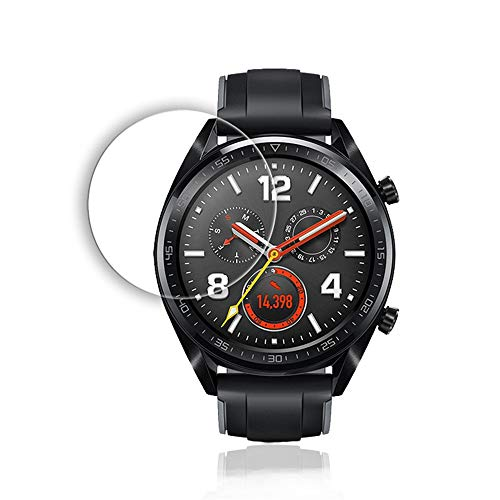 Price comparison product image certainPL Compatible Huawei Watch GT Screen Protector,  Full Coverage Scratch-Resistant Tempered Glass Film HD Clear Screen Protector for Huawei Watch GT (5 Pieces)