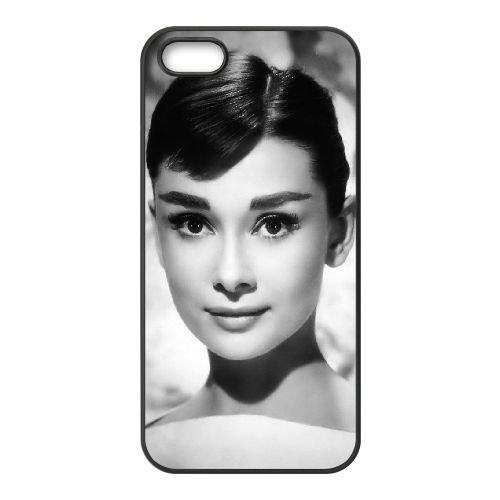 Audrey Hepburn coque iPhone 5 5S Housse téléphone Noir de couverture de cas coque EBDOBCKCO13345