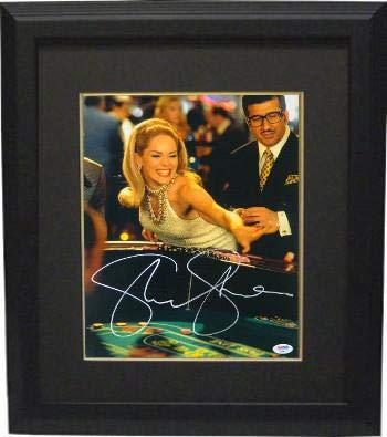Sharon Stone signed Casino 11x14 Photo Custom Framing Rolling Craps Dice- Hologram (entertainment/movie memorabilia) - PSA/DNA Certified from Hollywood Memorabilia