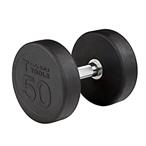 Body Solid Rubber Round Dumbbell Singles 5 100 lbs.