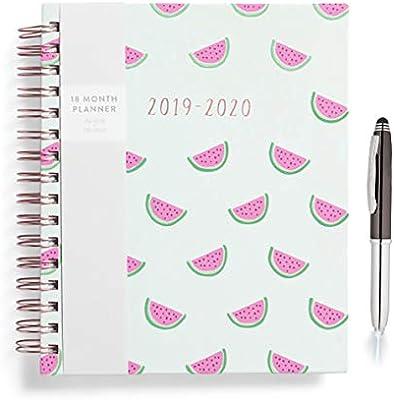 Amazon.com : Eccolo 2019 2020 Watermelon Spiral Agenda ...