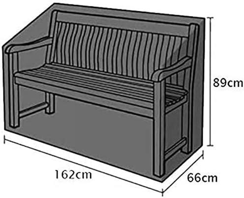 HYISHION Copertura per mobili da Giardino, Copertura per Il Patio, Copertura di Protezione Impermeabile Rettangolare o Quadrata per tavoli e sedie,Nero,200 * 160 * 70cm