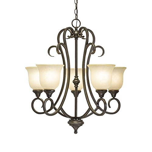 Lavers Hill 5-Light Iron Stone Chandelier