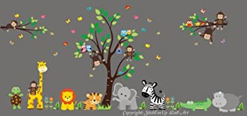 Amazoncom Nursery Wall Decals Wall Stickers Kids Room Safari - Nursery wall decals jungle