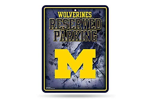 - NCAA Michigan Wolverines 8-Inch by 11-Inch Metal Parking Sign Décor