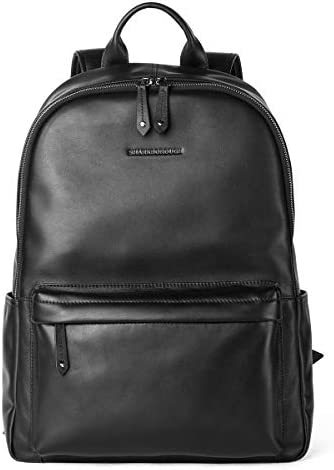 Sharkborough Supreme Anton Men's Backpack Genuine Leather Travel Bag Extra Capacity Casual Daypack